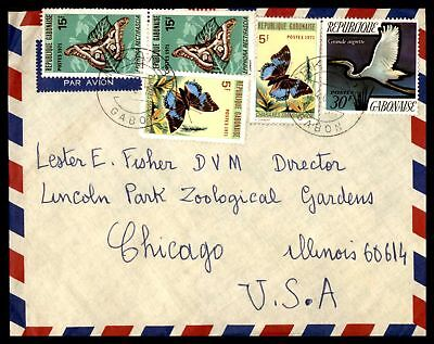 Makambo Jun 4 1973 Air Mail Cover With Butterflies Issues To Chicago Il Usa