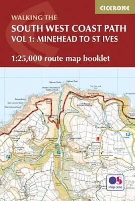 South West Coast Path Map Booklet - Vol 1: Minehead to St Ives ... 9781852849368