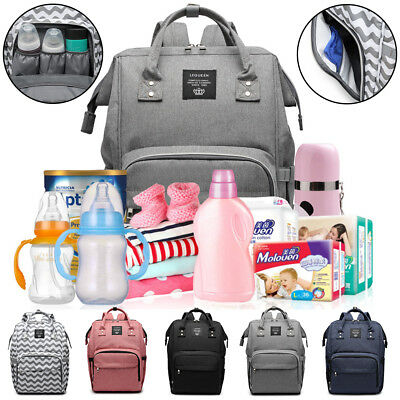 New Mummy Nappy Changing Maternity Large Baby Bag Diaper Waterproof Backpack