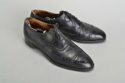 Gentleman's Narrow size 10 Quality 1950s' Leather Brogue Shoes & Trees. JDH