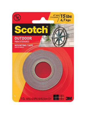 "NEW! SCOTCH Mounting Tape 1"" x 60"" Clear 411P"
