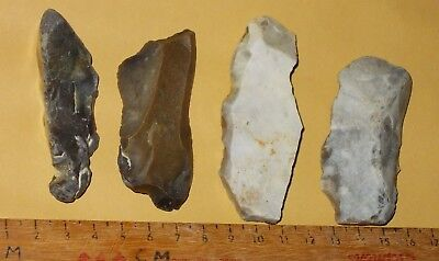 Mesolithic/ Neolithic Pointed Flint Scrapers /cutting Tools