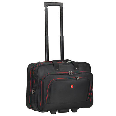 Trolley BUSINESS XL Pilotentrolley Keanu Manager Laptoptrolley Trolly Schwarz