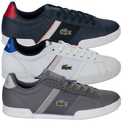 Mens Lacoste Deston Trainers In White