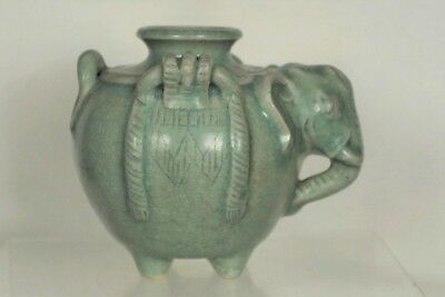 Fantastic Antique Oriental/Korean Inscribed Celadon Elephant Pot