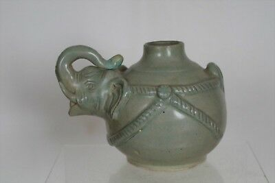 Lovely Collectable Antique Oriental/Korean Celadon Elephant Pot