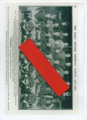 Daily Graphic Liverpool 1907-8  Team Group -- Good Copy Of Original