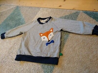 Shirt langarmshirt 110 Green cotton fred's world Bio Fuchs wie neu