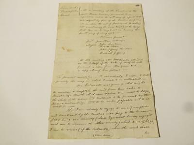 1813 Five Oaks Turnpike Road Trustees Signed Letter BILLINGSHURST  #CC12 *