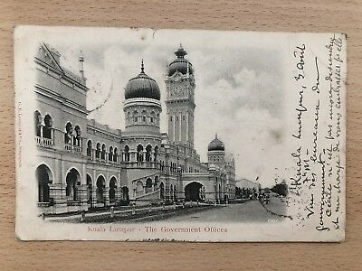 Malaya Old Postcard The Government Offices Kuala Lumpur To France 1903 !!