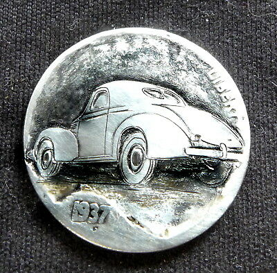 1937 Barn Find 1937 Willys Coupe Hobo Nickel by tmaher