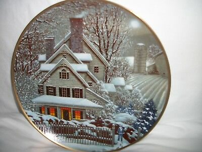"Franklin Mint Heirloom Recommendation ""Winter Home"" by G Williams - #G6063-1992"