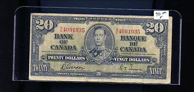 1937 Bank of Canada $20 Gordon Towers BL5001