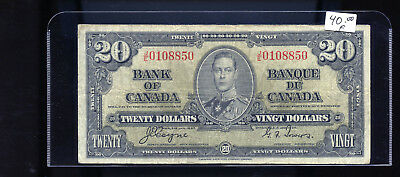 1937 Bank of Canada $20 Coyne Towers BL5010