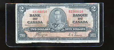 1937 Bank of Canada $2 Coyne Towers  BL4017