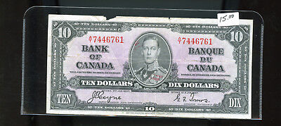 1937 Bank of Canada $10 tear Coyne Towers BL5079