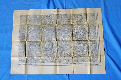 Lot of 6 WWI Maps, French Made-American Used