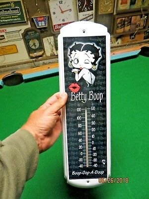 Betty Boop famous movie star advertising working mint shape thermometer