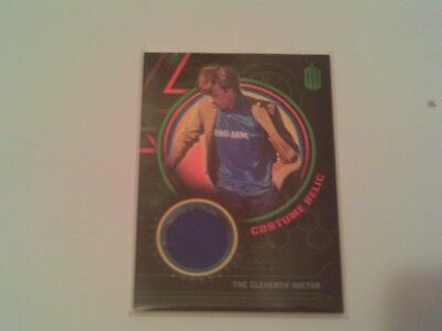 Topps Doctor Who Eleventh Doctor MATT SMITH Costume Football Jersey Relic /199