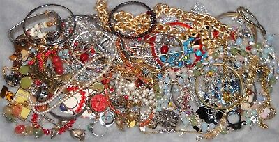 Vintage to Now Estate Junk Drawer JEWELRY Lot Unsearched Wear/Harvest Lbs WR7