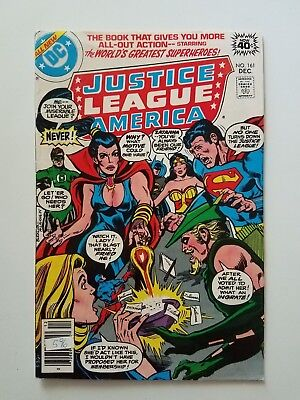 Justice League of America #161 FN- (DC,1978) Zatanna, Superman & Wonder Woman!