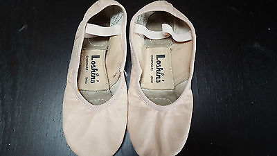 Girls Womens Ballet Shoes Pink Leather Loshins 7 M Split Sole