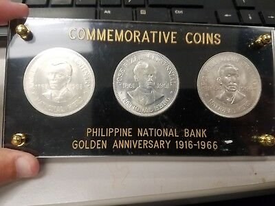 Philippines  Silver Peso Set Commemorative  No Reserve!