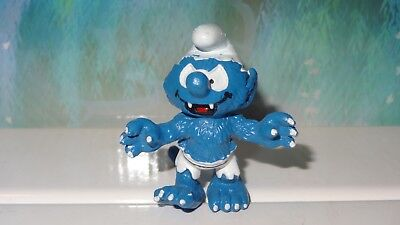 Smurfs Werewolf Smurf Wolfman 20543 Vintage Rare Genuine Display Toy Figurine