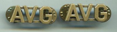 Pair of USAAF WWII American Volunteer Group AVG Officers Collar Insignia