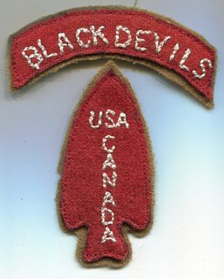 US WWII First Special Service Forces FSSF USA Canada Patch & Tab
