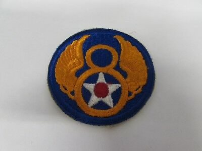 WWII US Army AC 8th AF patch basement fresh provide name of vet to winning bid.