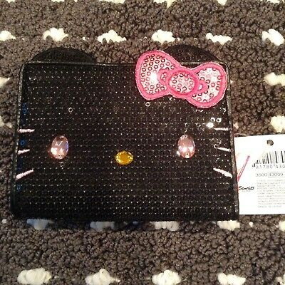 Hello Kitty Black Sequence Wallet- Brand New With Tags