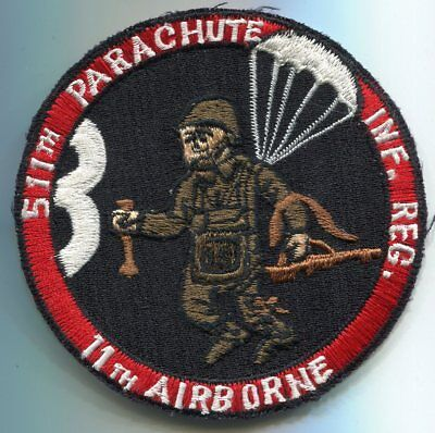 US WWII Army 11th Airborne 511th Parachute Infantry Regiment Pocket Patch