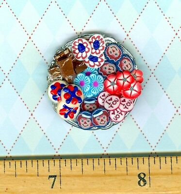 Dollhouse Miniature smaller Plate of Sue's Raggedy Ann & Andy Cookies  # 1