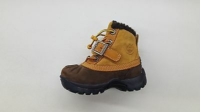 TIMBERLAND MALLARD WHEAT BROWN SUEDE WINTER FUR BABY TODDLER BOOTS 91834