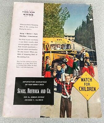 Vintage Sears, Roebuck and Co. Fall and Winter 1948 Catalog