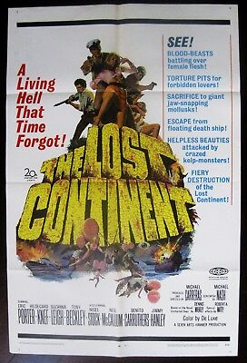 The Lost Continent 1968 Eric Porter Suzanna Leigh Original Hammer US Poster