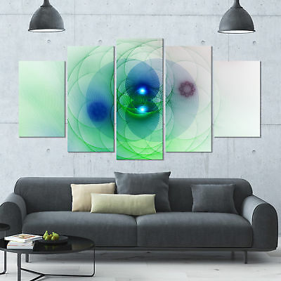 Designart 'Merge Colored Spheres.' Abstract Wall Art on Canvas - 60x32 - 5