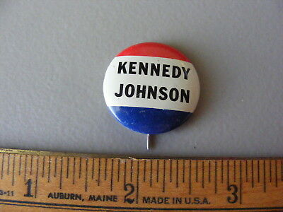 Vintage Kennedy Johnson Campaign Button