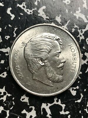 1946-BP Hungary 5 Forint Lot#X8190 Silver! High Grade! Beautiful! Low Mintage!
