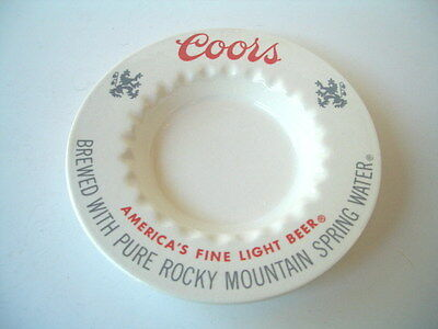 Vintage Coors Light Beer Commercial Quality Restaurant Bar Top Ashtray