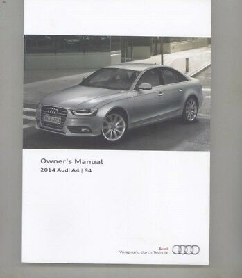 2014 Audi A4 S4 USA Owner's Manual & Booklets ORIGINAL Pouch wz6821