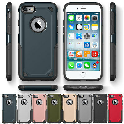 For iPhone 6S 7 8 Plus Dual Layer Protective Shockproof Hybrid Rugged Case Cover