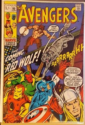 AVENGERS # 80, (1st SERIES / Sep 1970 / VFN- / Pence Copy / RED WOLF APPEARS)