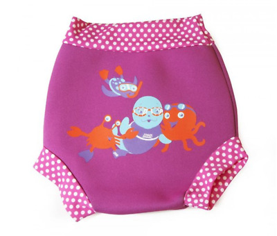 Zoggs Girls Child Pink Swimsure Swimming Pool Nappy - 12-18 months
