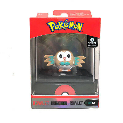 Wicked Cool Toys Pokemon Select Collection Rowlet Figure