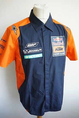 KTM Red Bull Factory Racing Team Hemd Shirt blau orange Gr. M Herren NP EUR 79,-