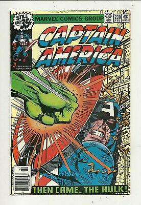 Captain America # 230 Battles Hulk!! Very Fine/Near Mint Condition!!!