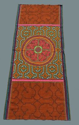 Shipibo Indian Embroidered and painted ritual cloth Ayahuasca Inspired designs