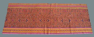 Shipibo Indian Embroidered Ayahuasca Inspired Ritual Cloth with ornate designs
